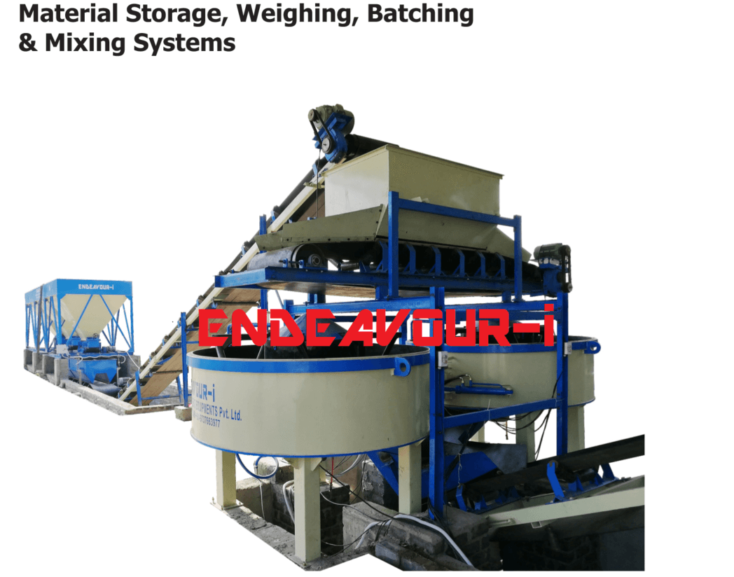 automatic material weighing batching and mixing systems