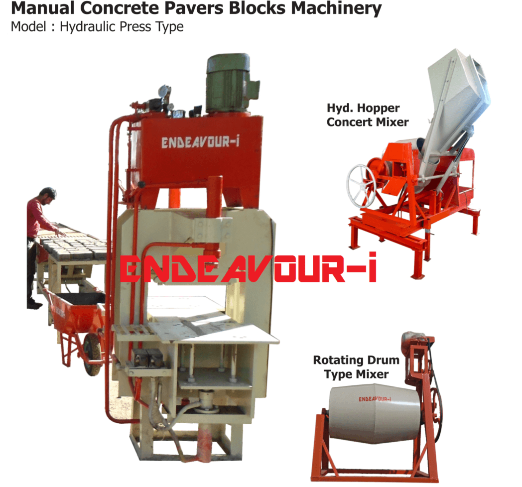 MANUAL CONCRETE PAVERS BLOCKS MACHINERY